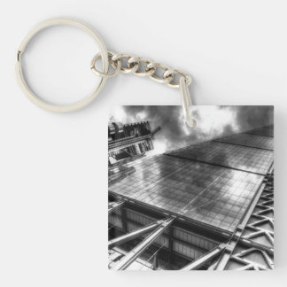Lloyd's and the Cheese Grater Single-Sided Square Acrylic Key Ring