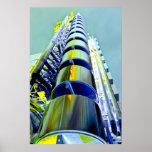Lloyd's Building London Art Poster