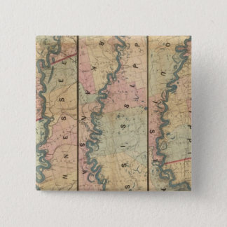 Lloyd's map of the Lower Mississippi River 15 Cm Square Badge
