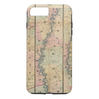 Lloyd's map of the Lower Mississippi River iPhone 8 Plus/7 Plus Case