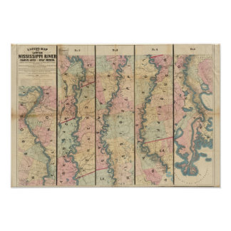 Lloyd's map of the Lower Mississippi River Poster