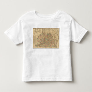 Lloyd's official map of the State of Virginia Toddler T-Shirt