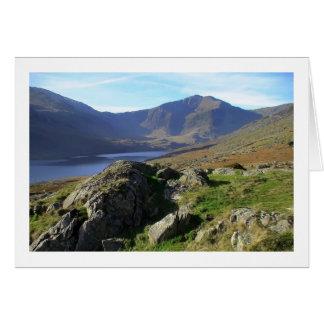 Llyn Ogwen and Y Garn from Afon Lloer Card