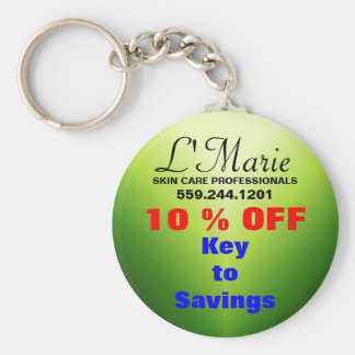 L'Marie Basic Round Button Key Ring