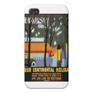 LMS Continental Holiday Poster iPhone 4 Cover