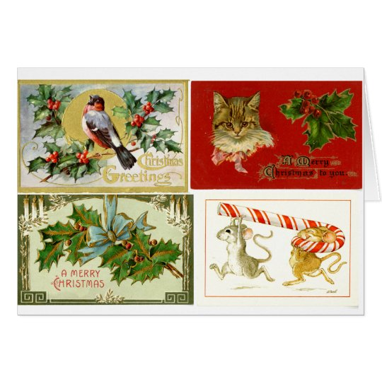 LMU Library Christmas Collage Greeting Card