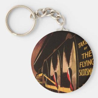 LNER Flying Scotsman Basic Round Button Key Ring