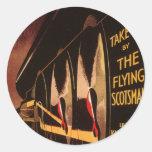 LNER Flying Scotsman Classic Round Sticker