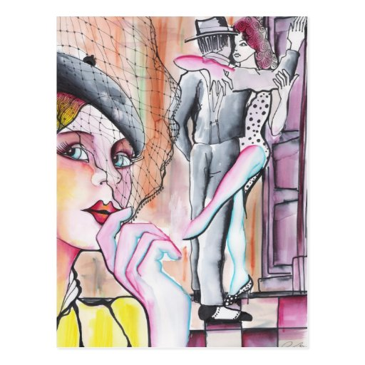 Lo han visto con otra! - Tango Postcard