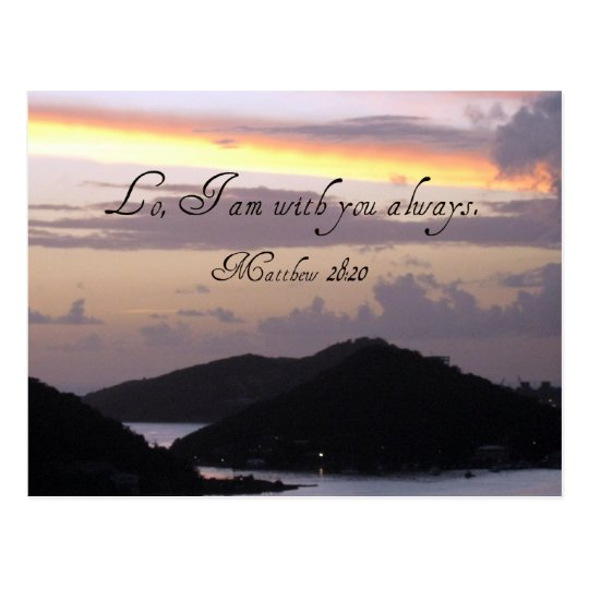 Lo, I am with you always. Postcard