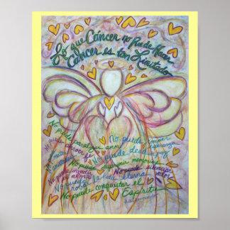 Lo que cáncer no puede hacer Angel Poster Print