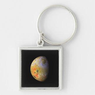 Lo Silver-Colored Square Key Ring