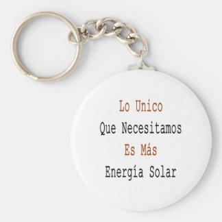 Lo Unico Que Necesitamos Es Mas Energia Solar Basic Round Button Key Ring
