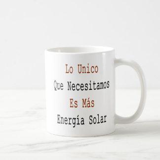 Lo Unico Que Necesitamos Es Mas Energia Solar Basic White Mug