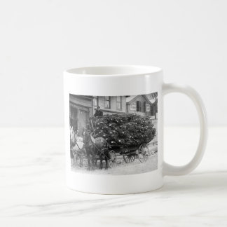 Load of Xmas Trees, 1910 Basic White Mug
