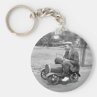 Load Test, early 1900s Basic Round Button Key Ring