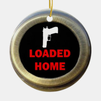 Loaded Gun Home Christmas Ornament