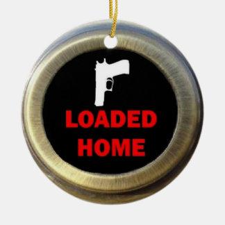 Loaded Gun Home Round Ceramic Decoration