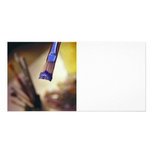 Loaded Paintbrush Picture Card