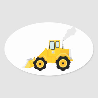 Loader Tractor Oval Sticker
