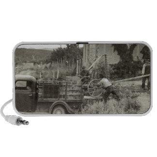 Loading a mower – 1940. travel speaker
