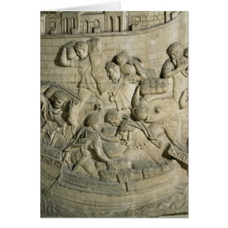 Loading a ship, detail from cast of Trajan's Card