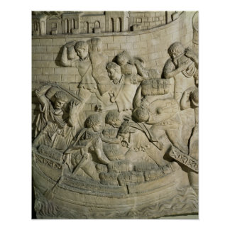 Loading a ship, detail from cast of Trajan's Poster