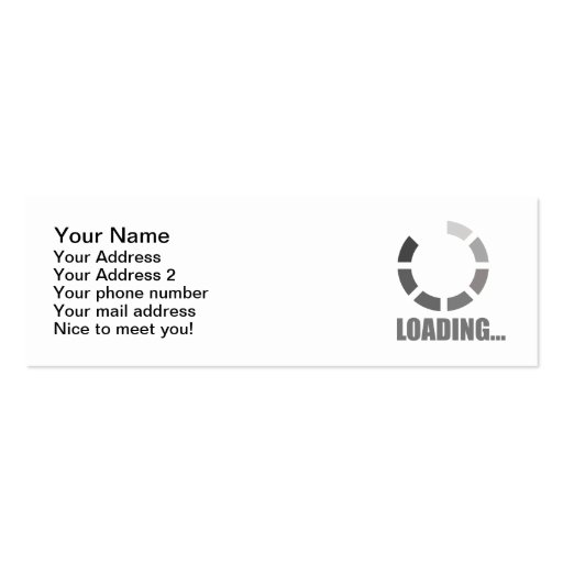 Loading bar business cards