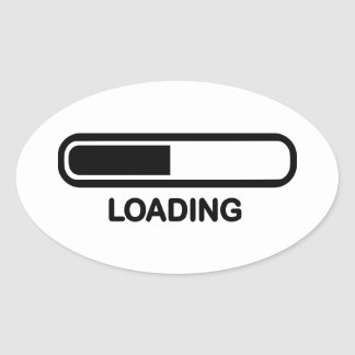Loading bar oval stickers