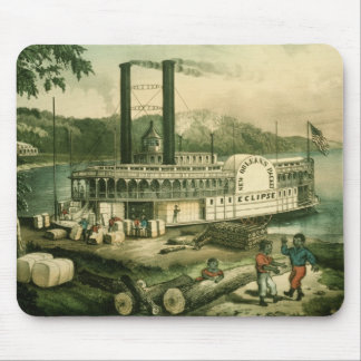 Loading Cotton on the Mississippi, 1870 Mouse Mat