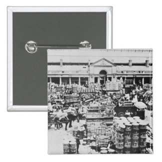 Loading Fruit at Covent Garden Market, 1900 Pinback Button