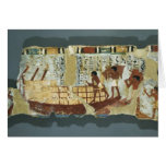 Loading grain, from the Tomb of Unsou, East Greeting Card