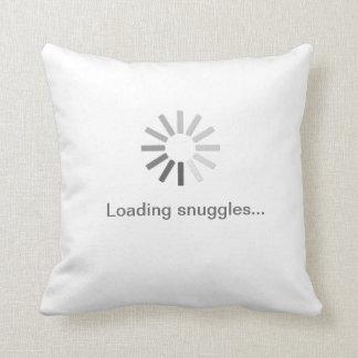 """Loading snuggles"" symbol pillow"