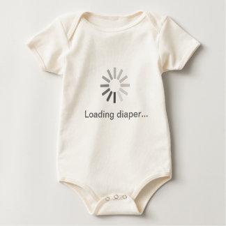 "Loading symbol ""Loading diaper.."" slogan baby grow Baby Bodysuit"
