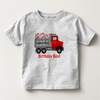 """Loads of Fun"" Truck Birthday Toddler T-Shirt"