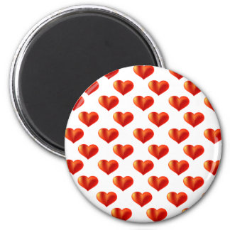 loads of hearts theme 6 cm round magnet