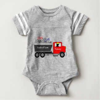 """Loads of Love"" Truck Baby Bodysuit"