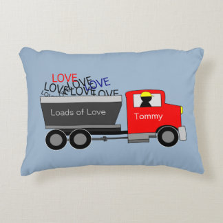 """Loads of Love"" Truck Personalised Decorative Cushion"
