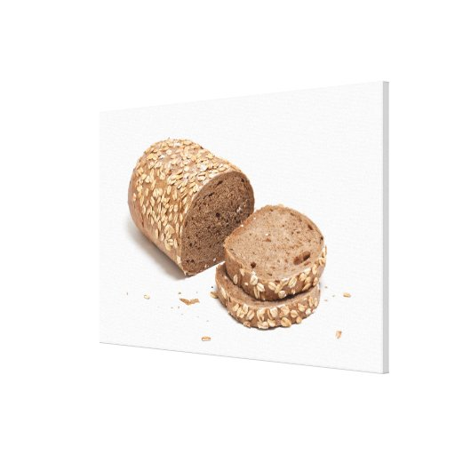 Loaf of bread stretched canvas print