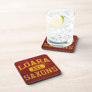 Loara Saxons Athletics Beverage Coaster