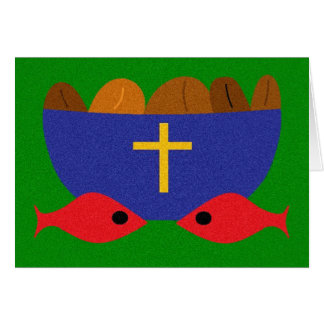 LOAVES & FISHES GREETING CARD