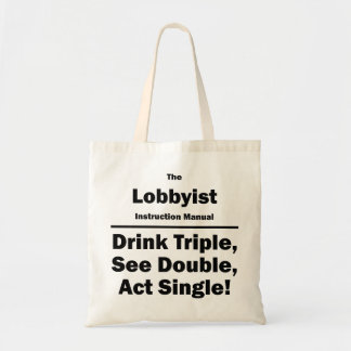 lobbyist tote bag