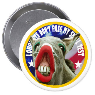 LOBBYISTS DON'T PASS MY SMELL TEST 10 CM ROUND BADGE