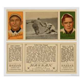Lobert & Tenney Phillies Baseball 1912 Poster