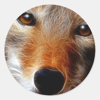 Lobo Round Sticker