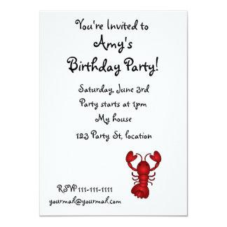 Lobster 11 Cm X 16 Cm Invitation Card