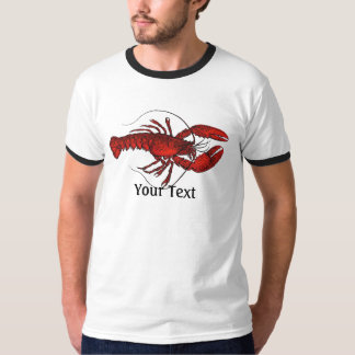 Lobster 3 Mens Ringer T-shirt