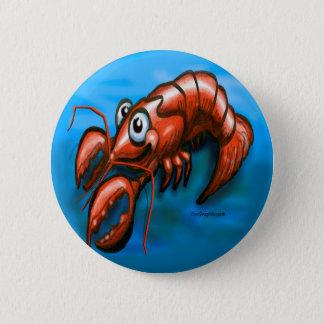 Lobster 6 Cm Round Badge