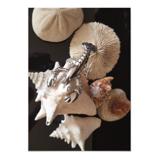 Lobster and shells card