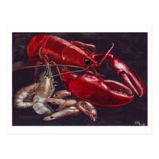 Lobster and Shrimps Postcard